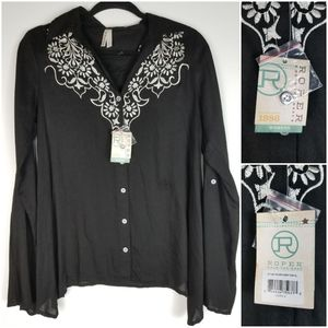 Roper Classic Western Apparel Embroidered Blouse S